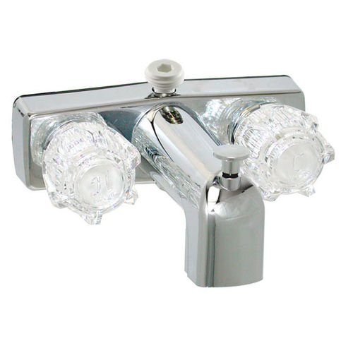 Chrome Two Handle Tub/Shower Diverter Faucet with D-Spud